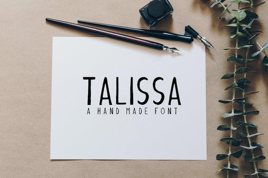 Talissa Handmade Font