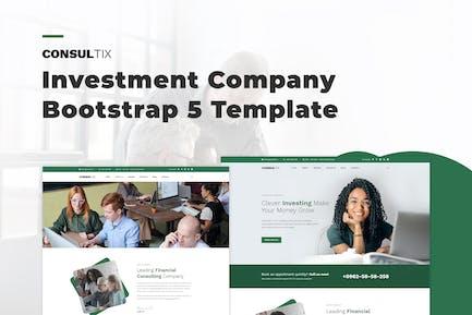 Consultix - Investmentgesellschaft Bootstrap 5 Templat