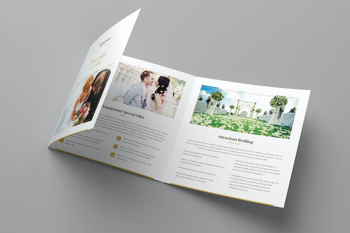 Thumbnail for Brochure – Hotel for Wedding Tri-Fold Square