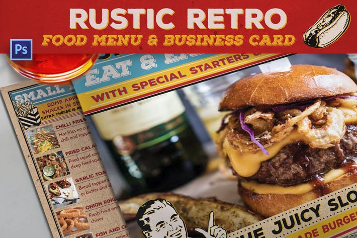 Thumbnail for Rustic Retro Food Menu