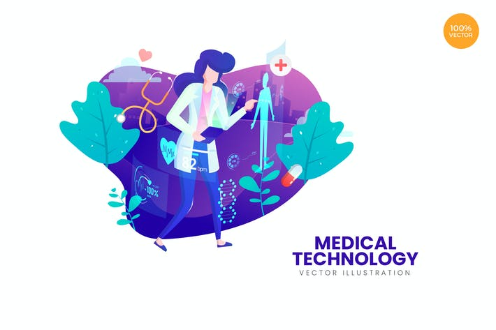 Thumbnail for Medical Technology Vector Illustration Concept
