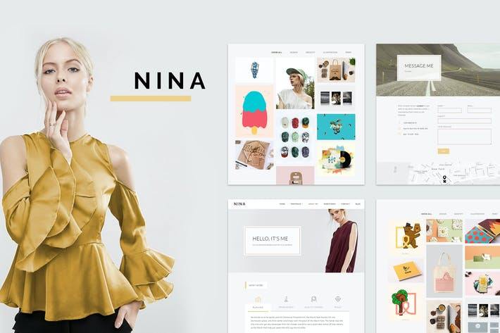 Thumbnail for Nina - A Minimal and Creative Portfolio WordPress