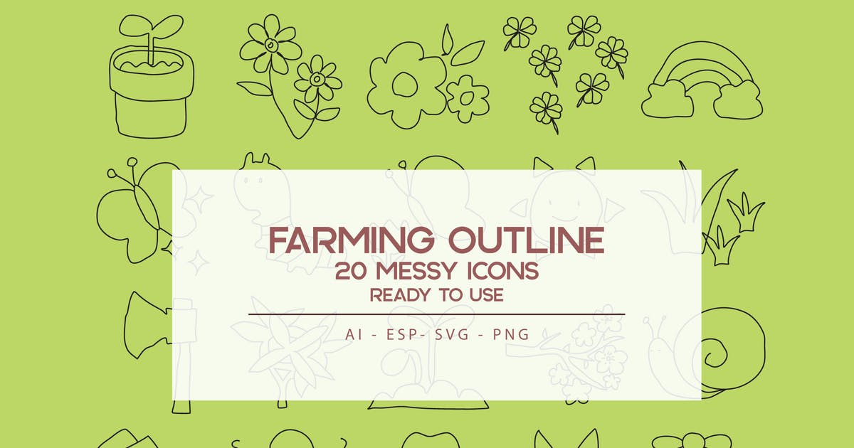 Download Farming Outline Icons Set by SetiadiKaryaPertiwi