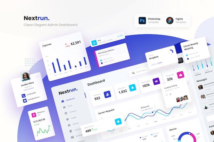 Nextrun - Neat Clean and Elegant Admin Dashboard