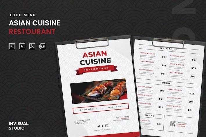 Asian Cuisine - Food Menu