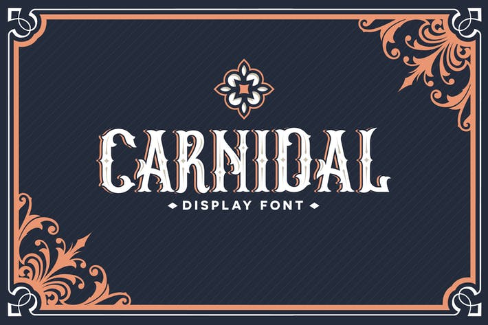 Thumbnail for Carnidal typeface