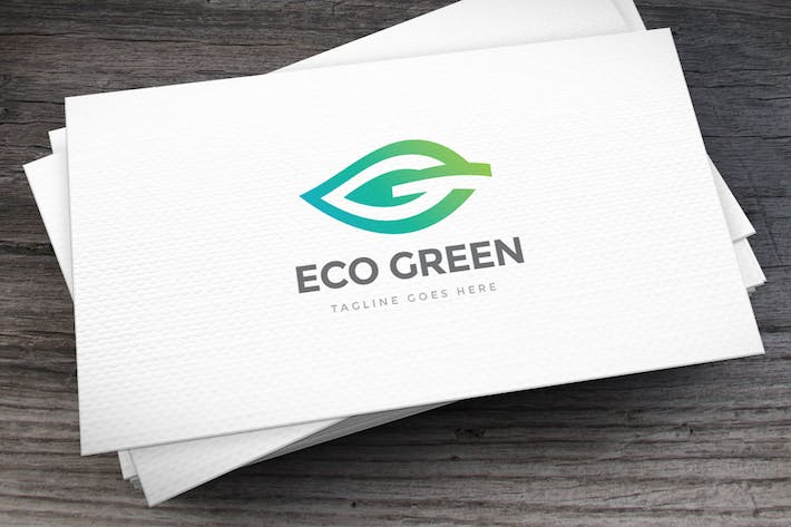 Thumbnail for Green Leaf Letter G Logo Template