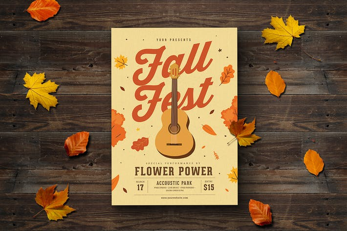 Thumbnail for Fall Coustic Music Flyer