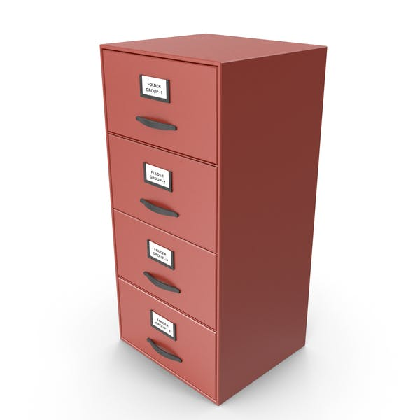 Filing Cabinet Drawer Red