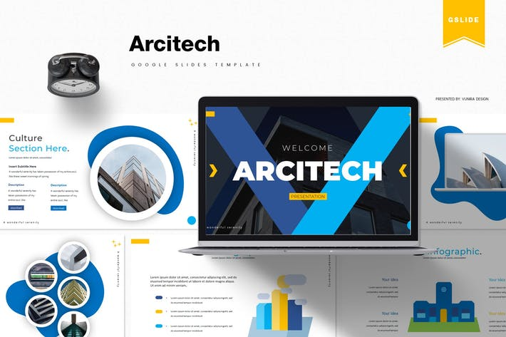 Thumbnail for Arcitech | Google Slides Template