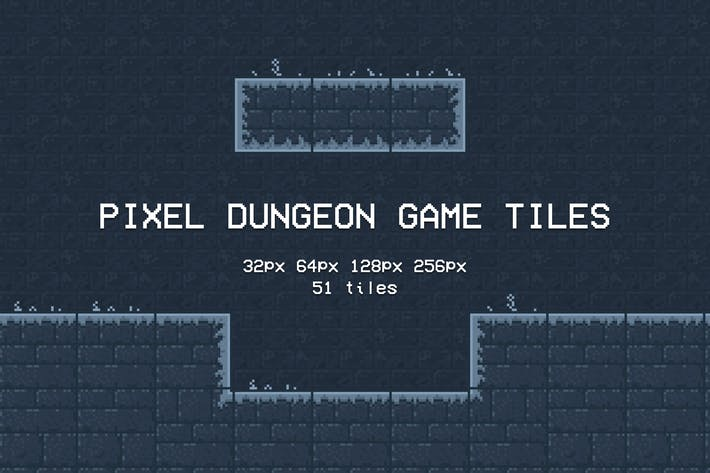Thumbnail for Pixel Dungeon Game Tiles
