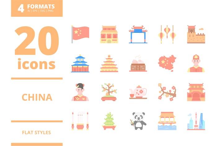 Thumbnail for China Flat icons packs