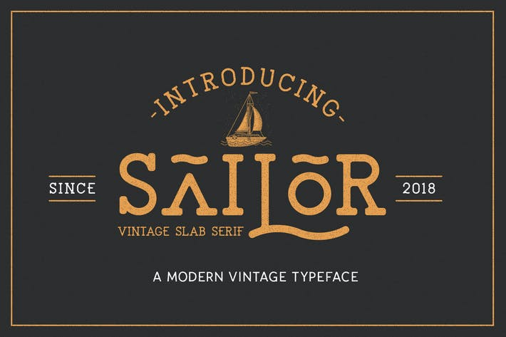Thumbnail for The Sailor Vintage Typeface