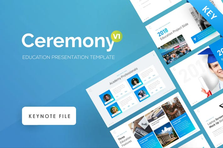 Thumbnail for Ceremony Education Keynote Presentation Template