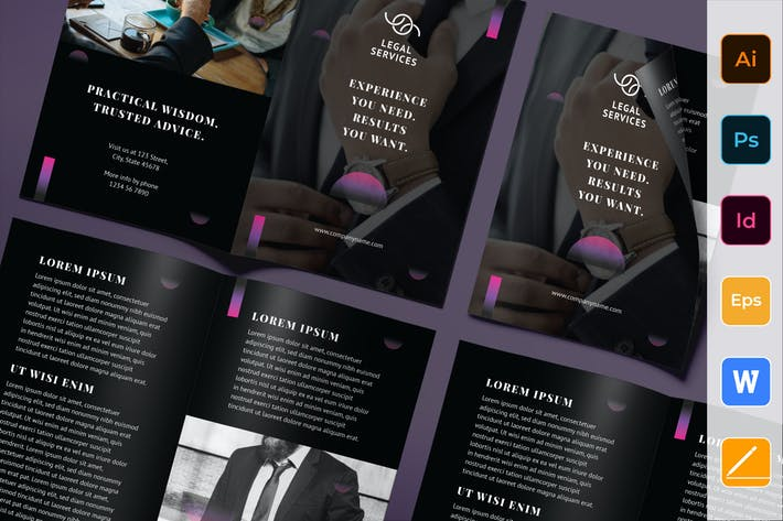 Thumbnail for Law Company Brochure Bifold