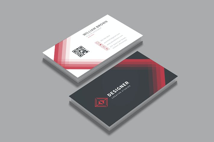 Thumbnail for Red Business Visit Card