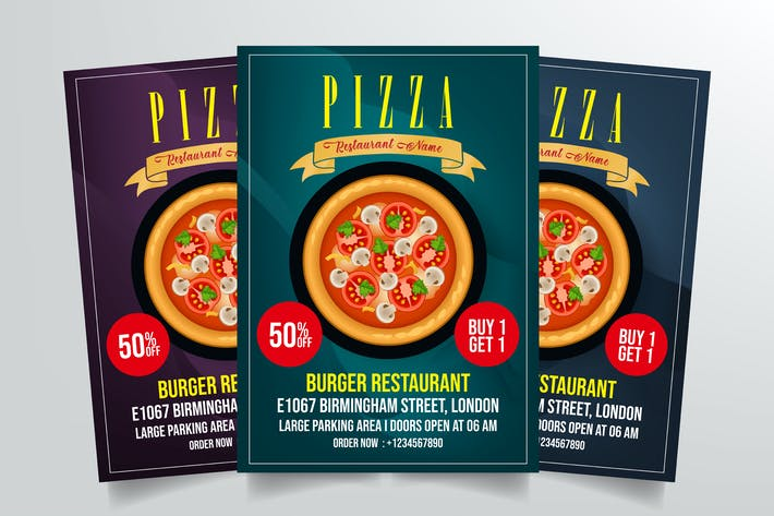 Thumbnail for Pizza Flyer Template