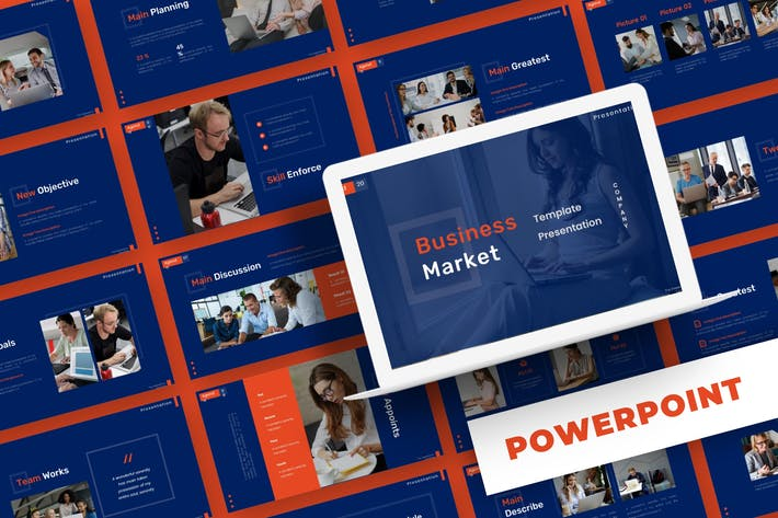 Thumbnail for Business Market - Powerpoint Template