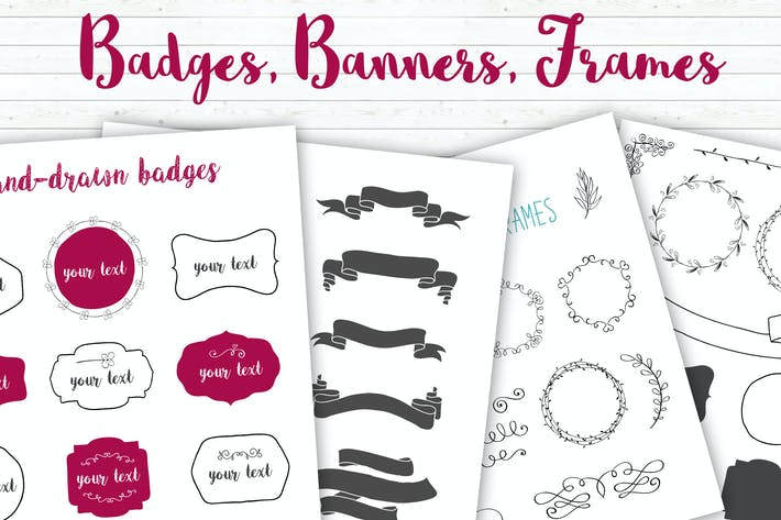 Thumbnail for Badges, Banners, Frames, Flourishes Collection