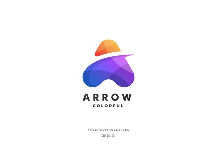 Abstract Letter Colorful Logo