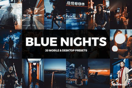 20 Blue Nights Lightroom Presets and LUTs