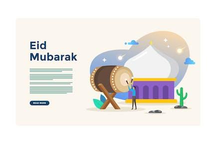 Illustration de l'Aïd Moubarak