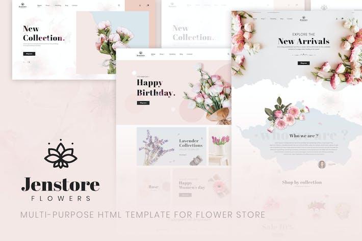 Thumbnail for JenStore   Plantilla HTML de la tienda de flores