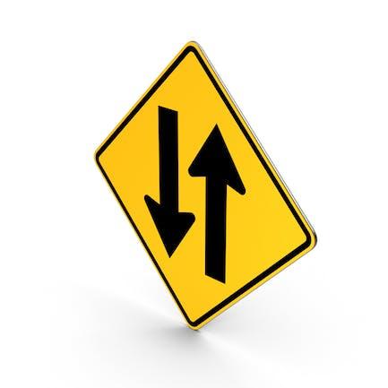 Zwei-Wege-Verkehrsschild