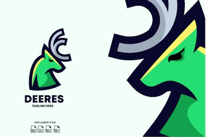 Thumbnail for Deer Logo Design Template