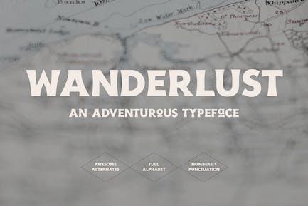 Wanderlust - Travel Font