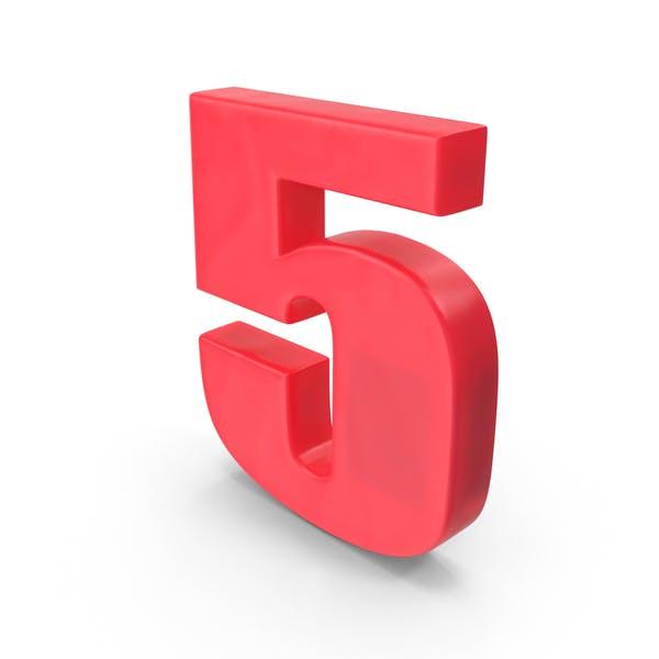 Cover Image for Number Fridge Magnet 5