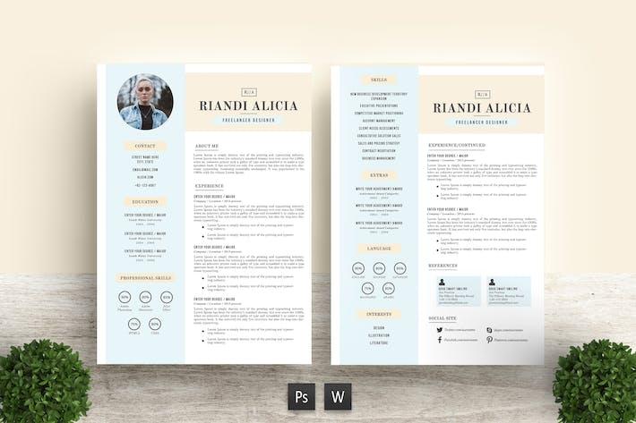Thumbnail for Trend Resume Template Riandi Alicia