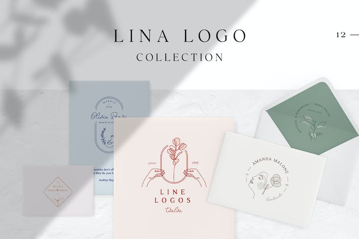 Thumbnail for Lina Logo Collection – Line Art