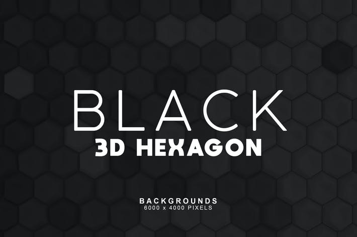 Thumbnail for Black Hexagon Backgrounds