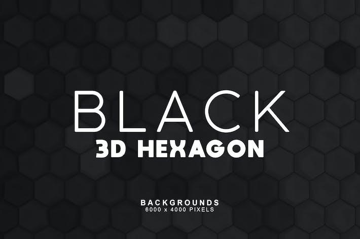 Thumbnail for Schwarze Hexagon-Hintergründe