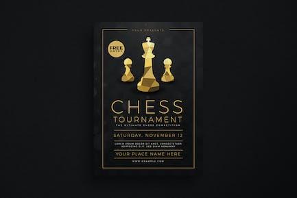 Chess Tournament Event flyer