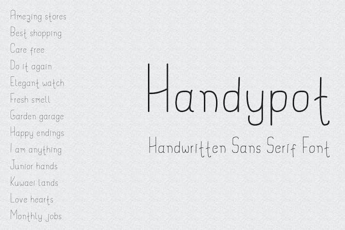 Thumbnail for Handypot - Handwritten Sans Serif Font