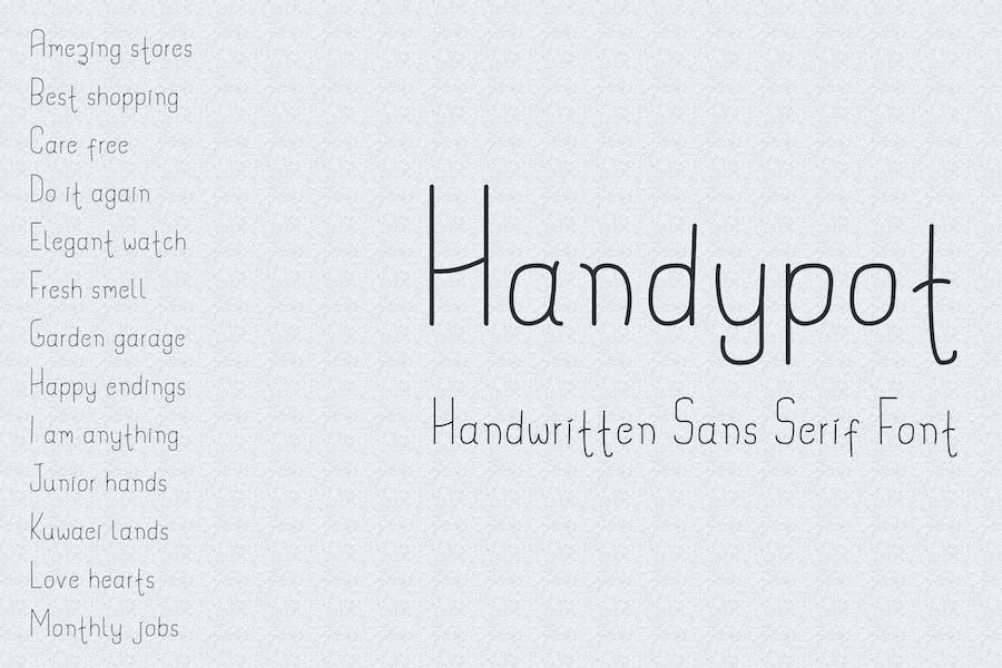 Handypot - Handwritten Sans Serif Font