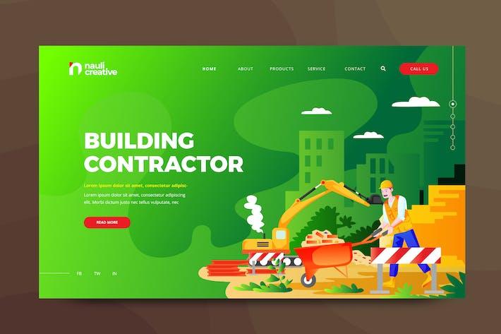 Thumbnail for Building Contractant Web PSD et Modèle Vecteur AI