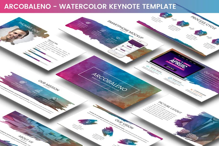 Thumbnail for Arcobaleno Keynote Template