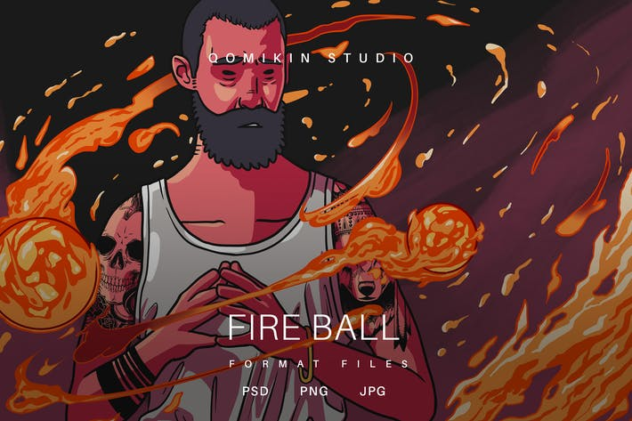 Fire Ball Illustration