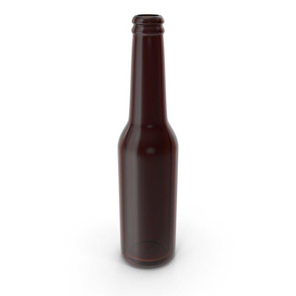 Botella de Cerveza Marrón Limpio