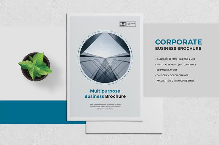 cover image for blue business brochure template