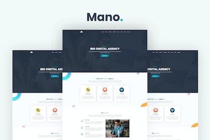 Mano - Eine Seite Parallax