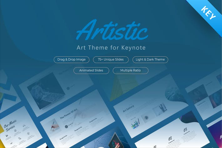 Thumbnail for Artistic Keynote Presentation Template