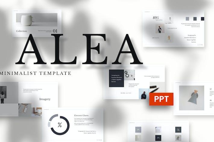 Thumbnail for Alea - Минималистский Powerpoint Шаблон