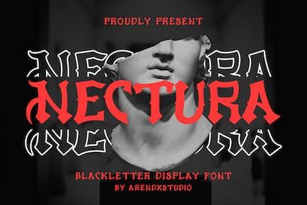 Nectura - Blackletter Display Font