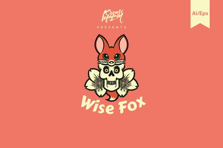 Thumbnail for Wise Fox Logo Template