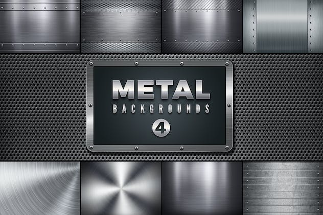 Metal Backgrounds Col 4