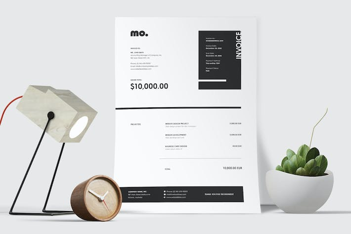 Thumbnail for Minimal Invoice Template 48